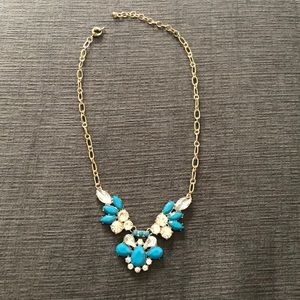 Jewelry - Aqua and gold statement necklace- great condition!